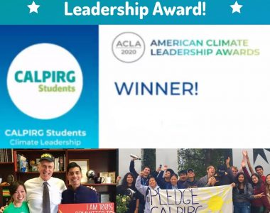 CALPIRG wins national award for work to fight climate change