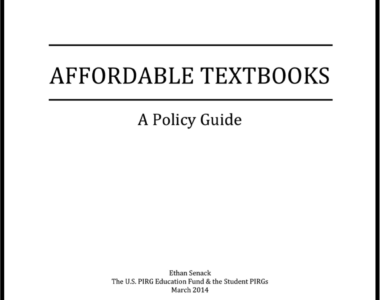Affordable Textbooks: A Policy Guide