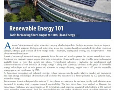 Renewable Energy 101: Tools to move campuses toward renewable energy